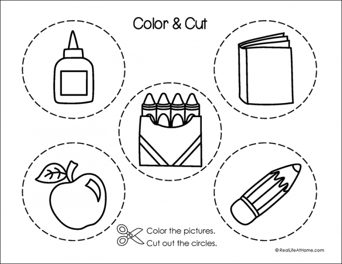 Fine Motor Skills Practice Packet For Back To School
