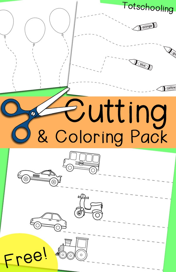 Free Cutting Coloring Pack