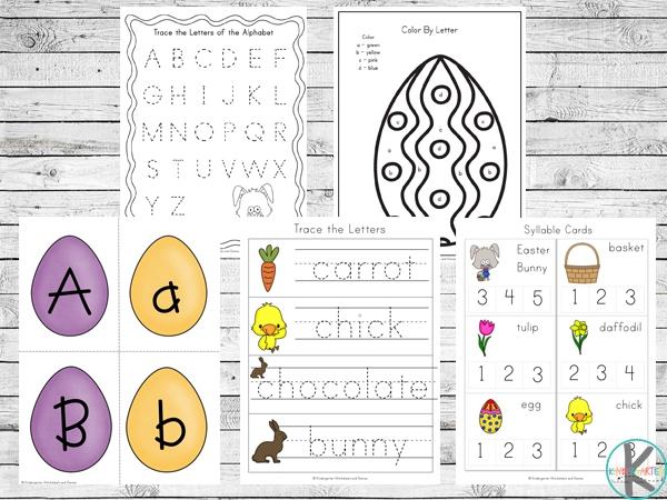 Easter Beginning Sounds – Secret Word Worksheets 1