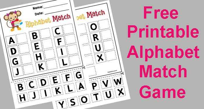 Free Printable Abc Matching Game For Preschool And Early Childhood