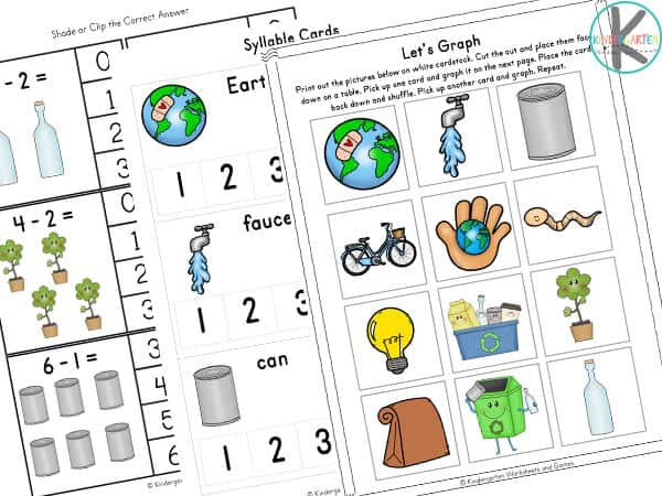 Earth Day Matching Worksheets