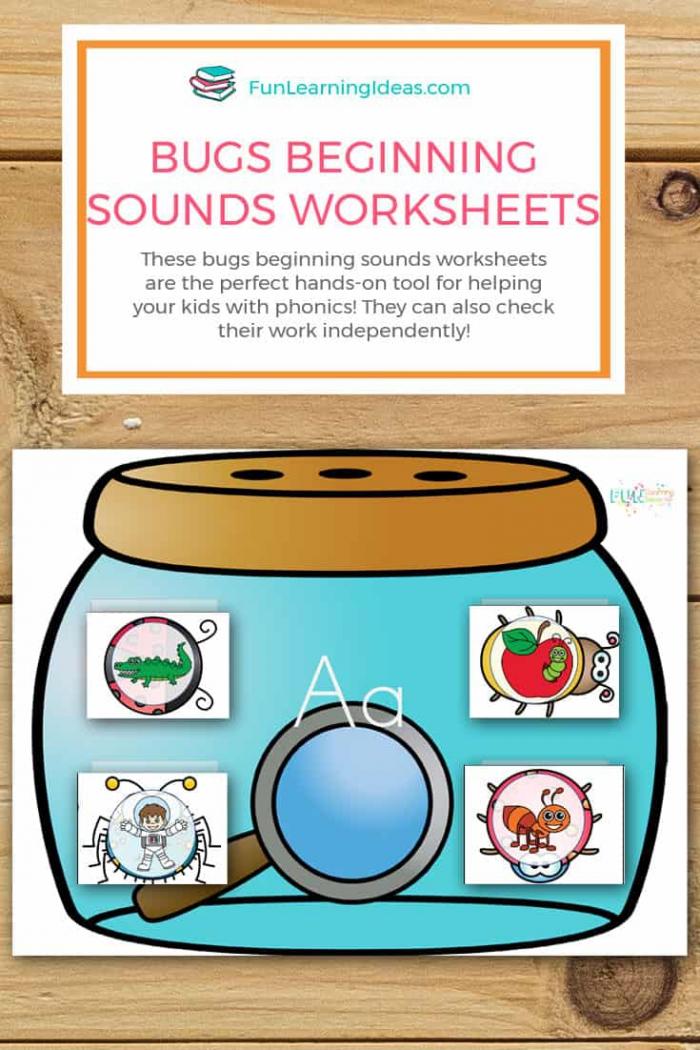 Bug Beginning Sounds Worksheets