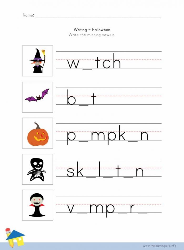I Like Halloween Writing Worksheets