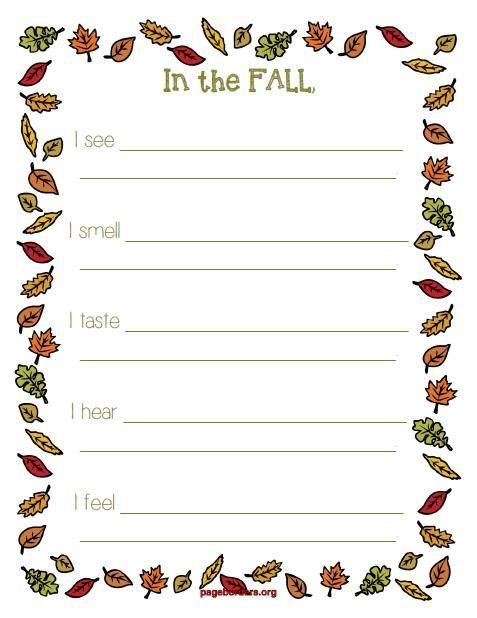 Autumn Themed Handwriting Worksheets