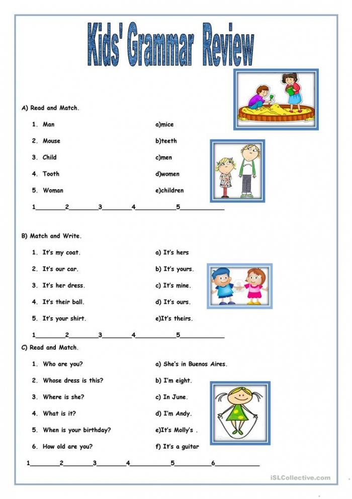 Kids Grammar Review