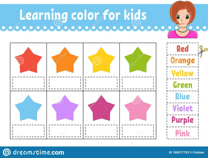 Learning Color For Kids Education Developing Worksheet Color