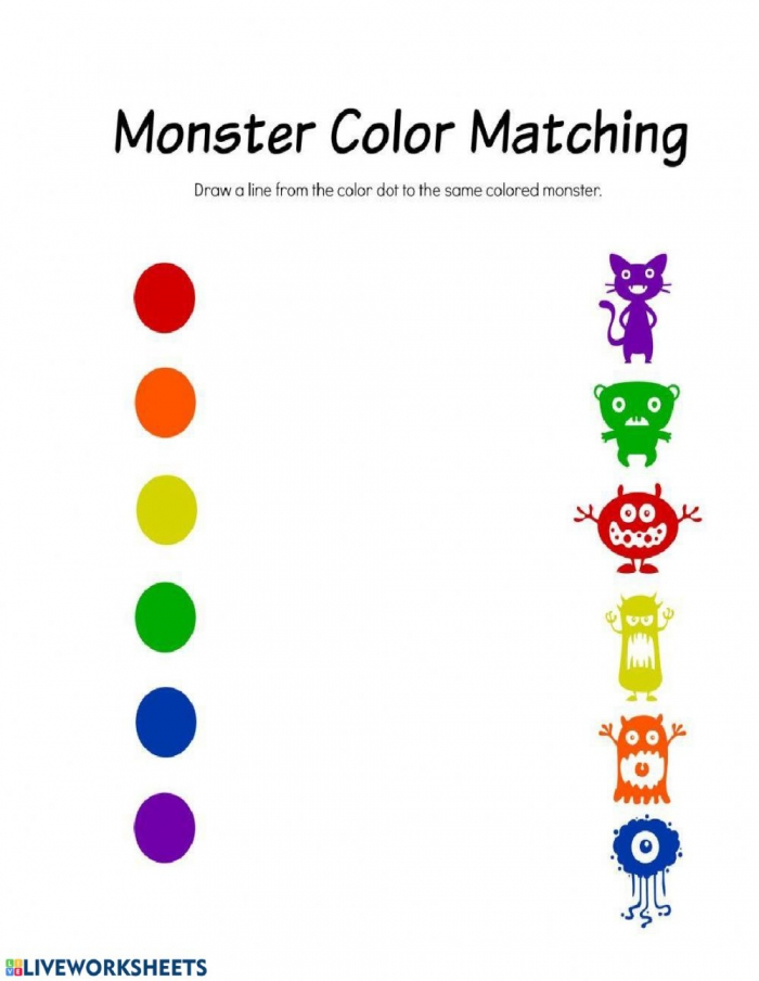 Matching Colors Interactive Worksheet