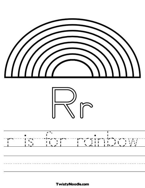 Letter R Is For Rainbow Worksheets