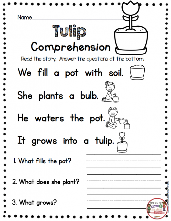 Spring Read And Write Worksheets