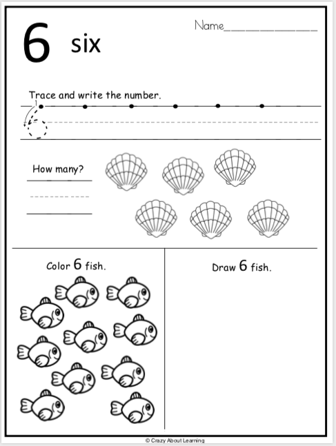 Summer Tracing Numbers Worksheets