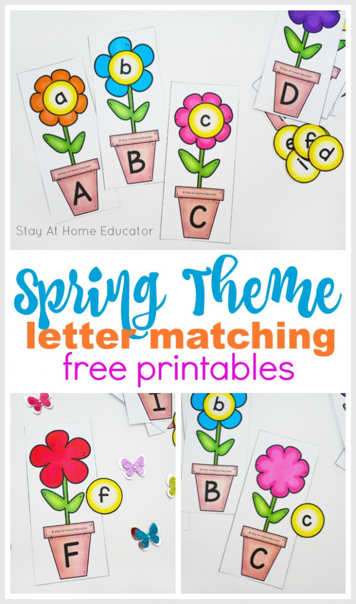 Spring Tracing Lowercase Letters Worksheets