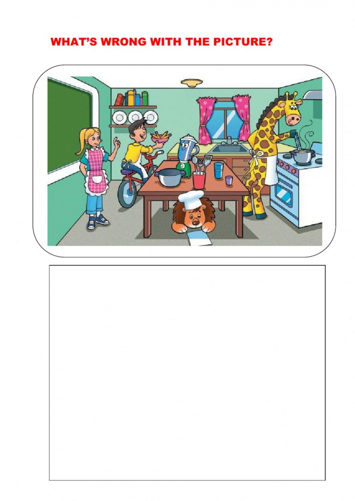Whats Wrong With The Picture Interactive Worksheet