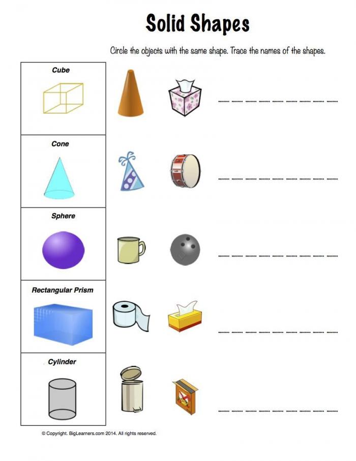 Same Shape Worksheets