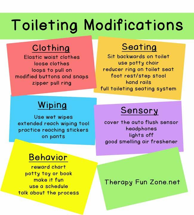 Modifications For Potty Training