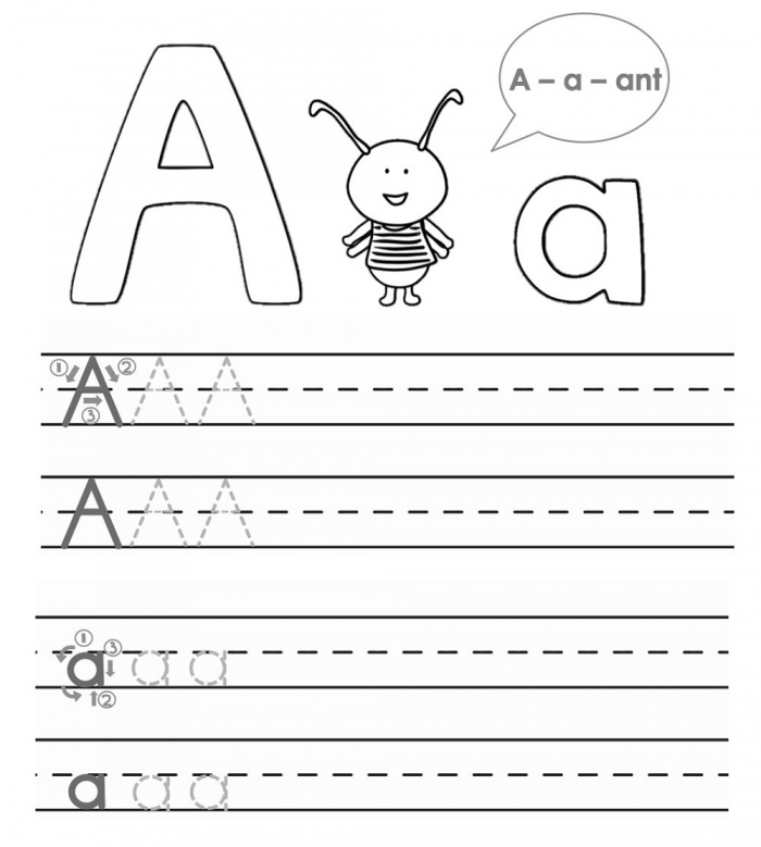 Abc Trace Worksheets
