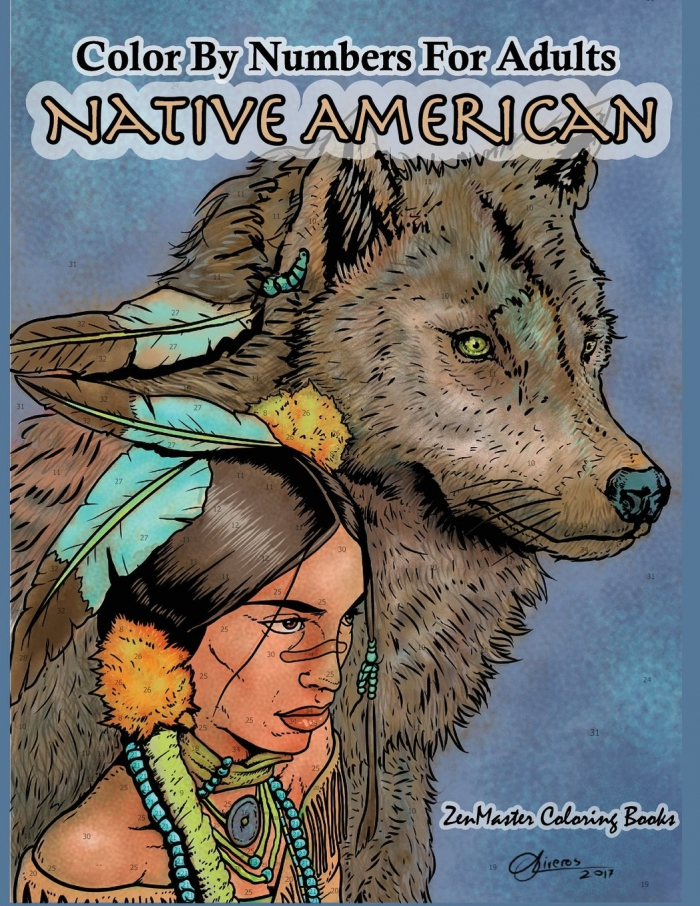 Amazoncom Color By Numbers Adult Coloring Book Native American
