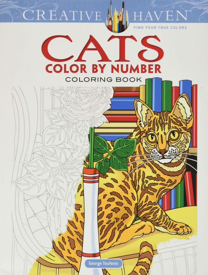 Amazoncom Creative Haven Cats Color By Number Coloring Book