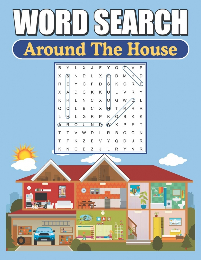 Amazoncom Word Search Around The House Large Print Word Find