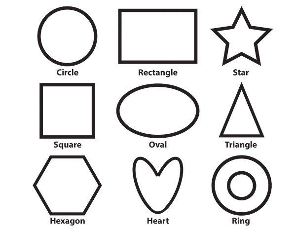 Basic Shapes Coloring Sheet
