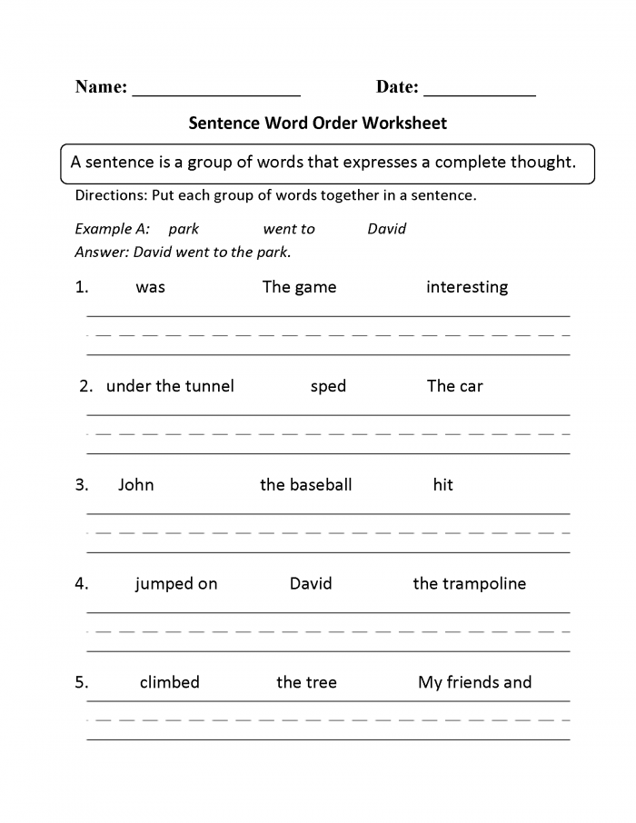 Beginner Sentence Building Worksheets Here Is A Graphic Preview