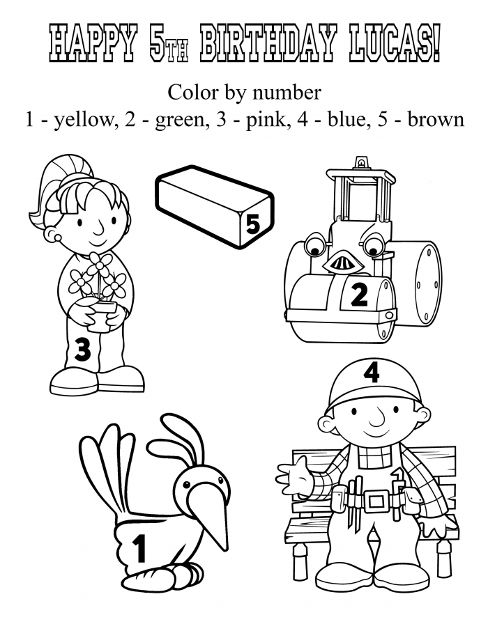 Bob The Builder Coloring Pages Bob The Builder Birthday Party