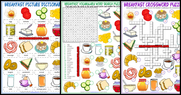 Breakfast Time Word Search Puzzle