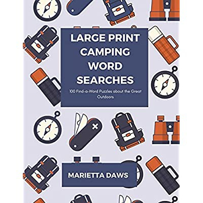 Buy Large Print Camping Word Searches Find