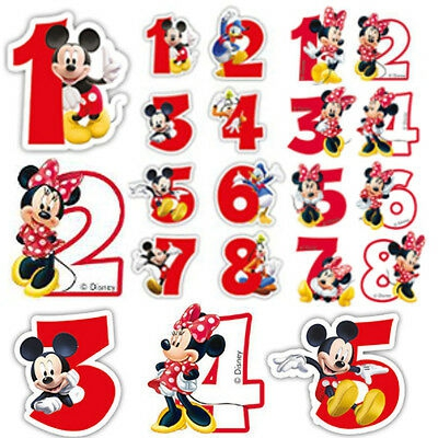 Candles Minnie Mickey Mouse Happy Birthday Cake Numbers Boy Girl