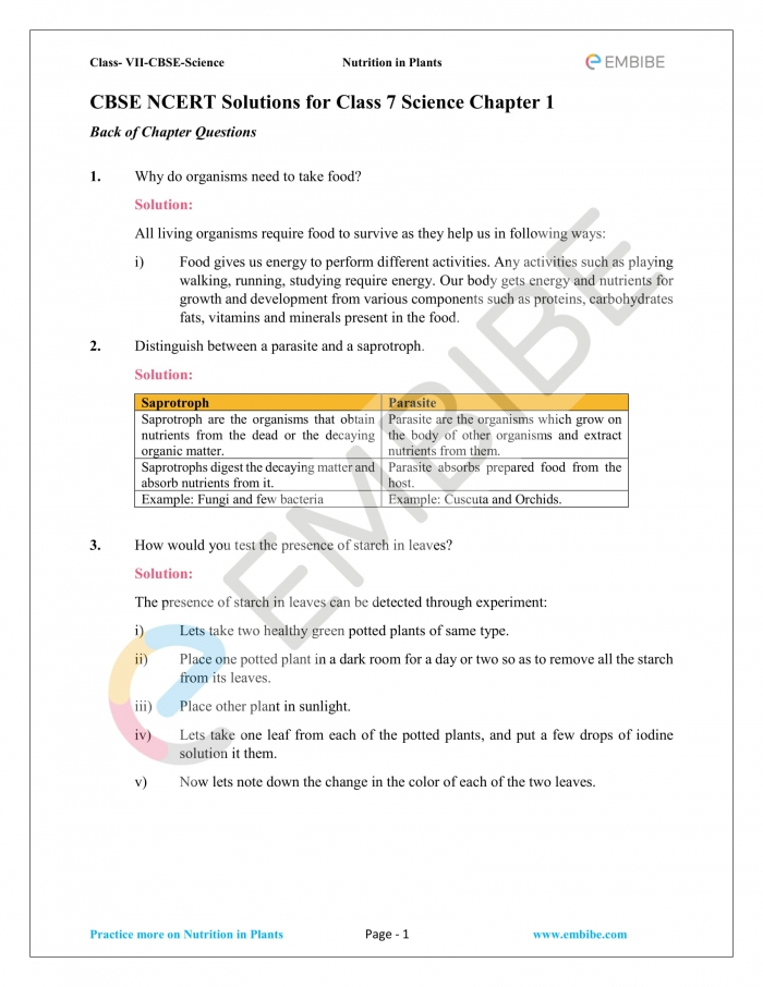 Cbse Ncert Solutions For Class Science Chapter Pdf