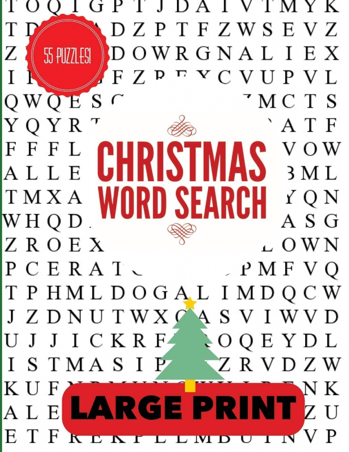 Christmas Word Search Large Print Christmas Word Find Christmas