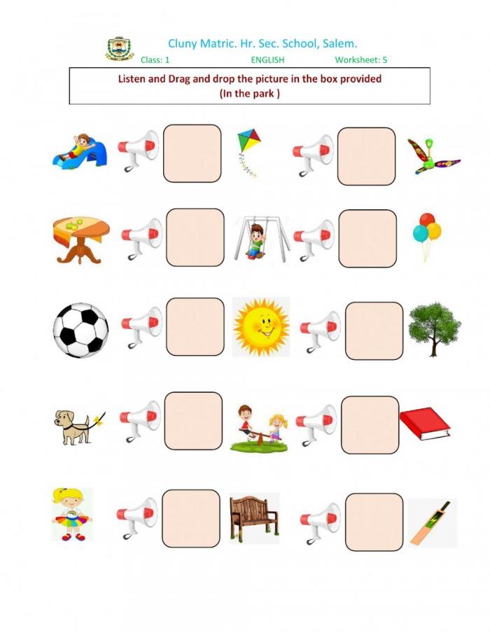 Class English Worksheet