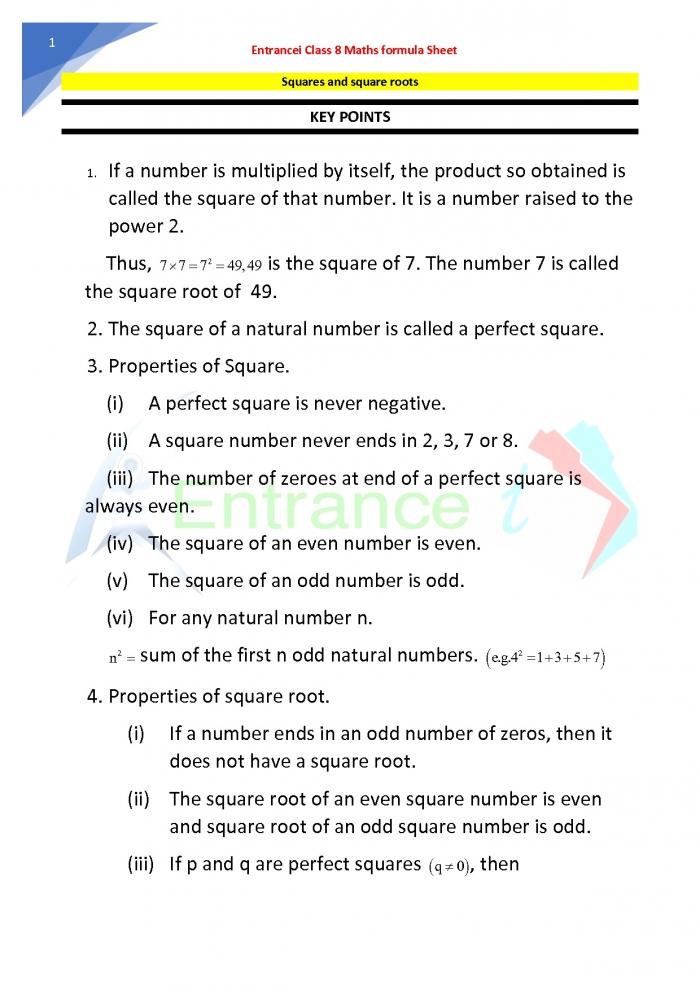 Class Maths Chapter