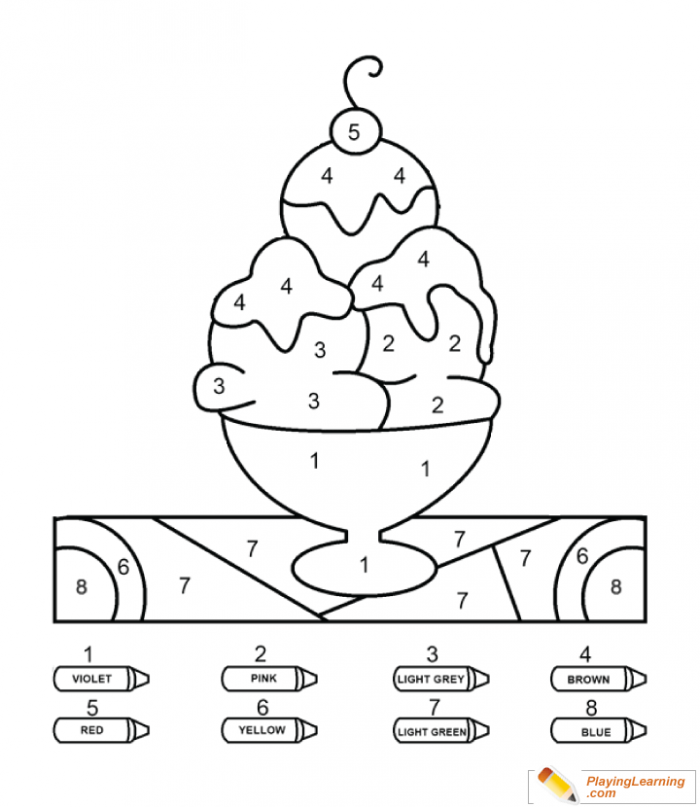 Coloring By Numbers To Ice Cream