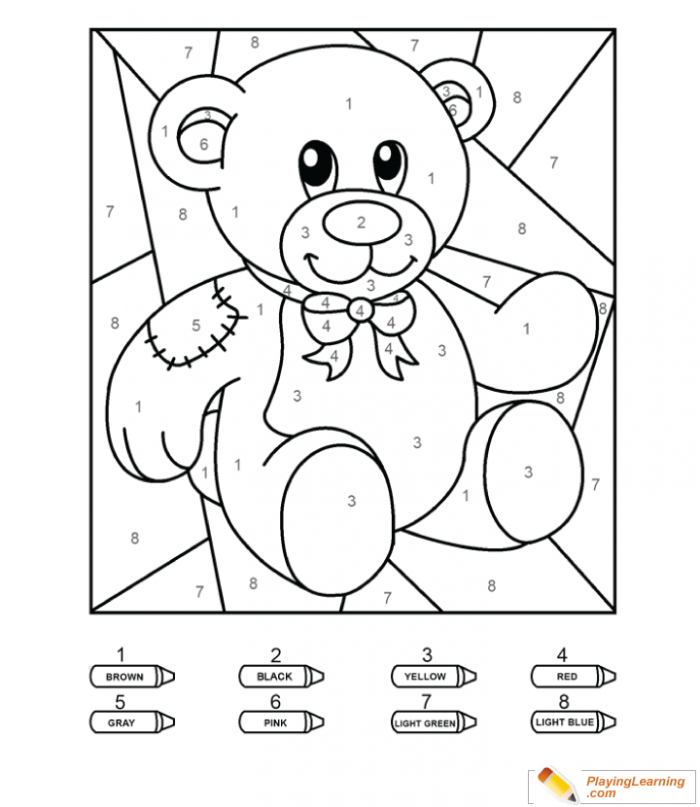 Coloring By Numbers To Teddy Bear