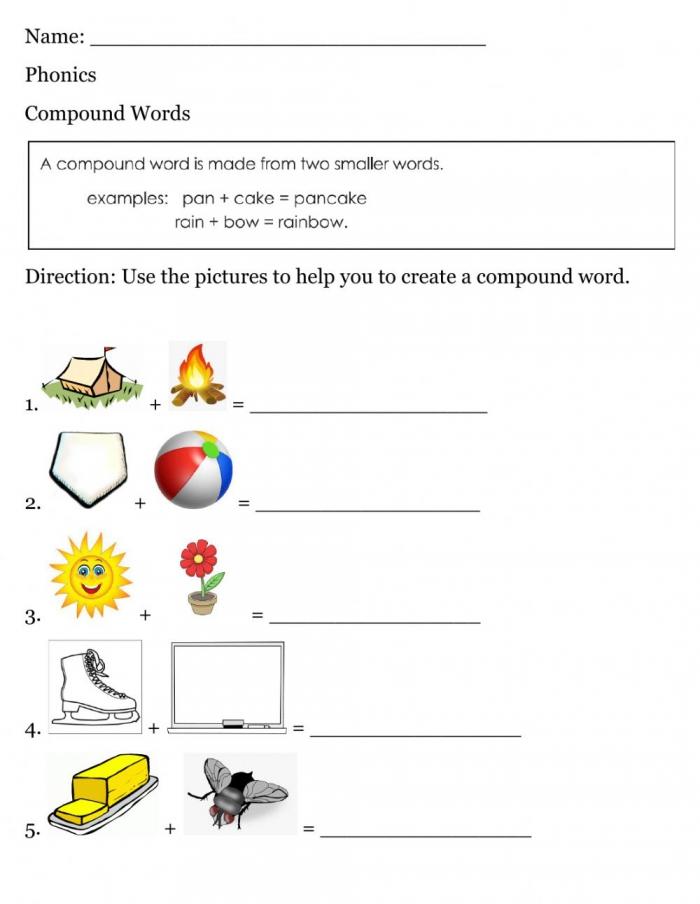 Compound Word Worksheet