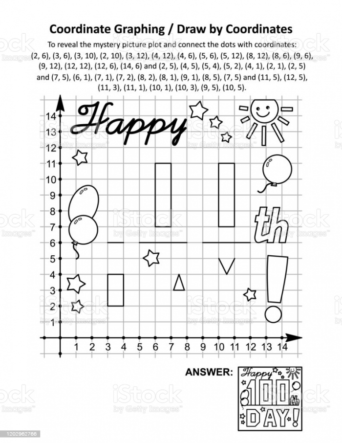 Coordinate Graphing Or Draw By Coordinates Math Worksheet With