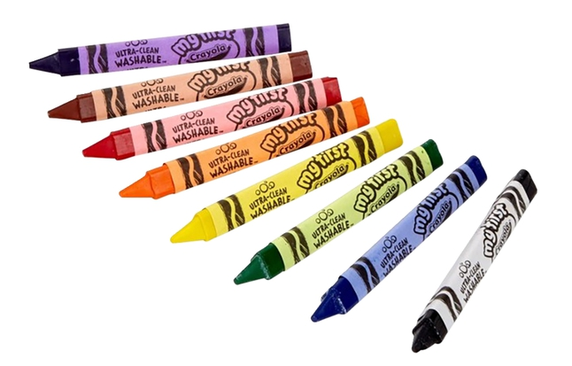 Crayola Washable Tripod Grip Crayons Classpack Assorted Colors