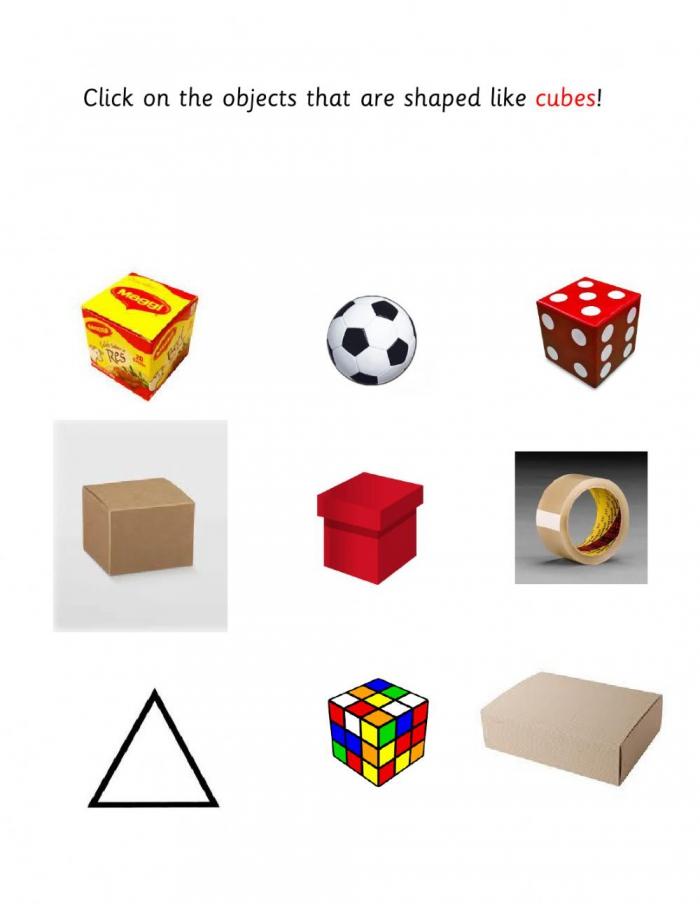 Cubes Worksheet