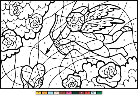 Cupid Angel Color By Number
