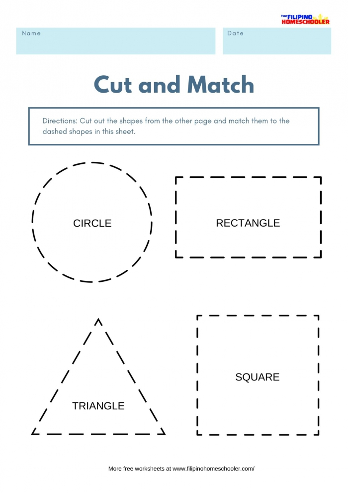 Cut Out The Shapes Worksheets