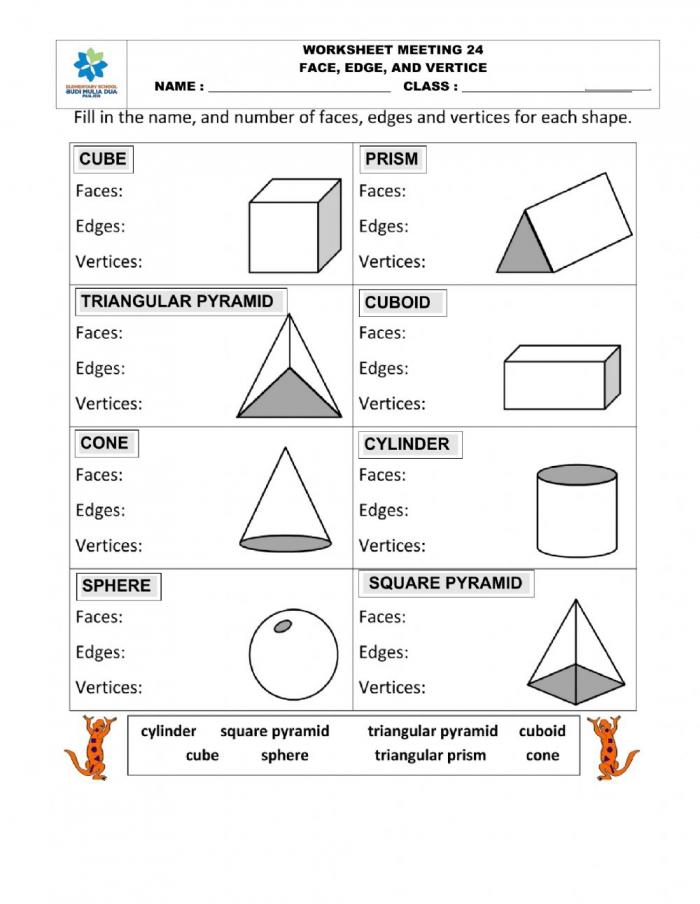 D Shape Worksheet