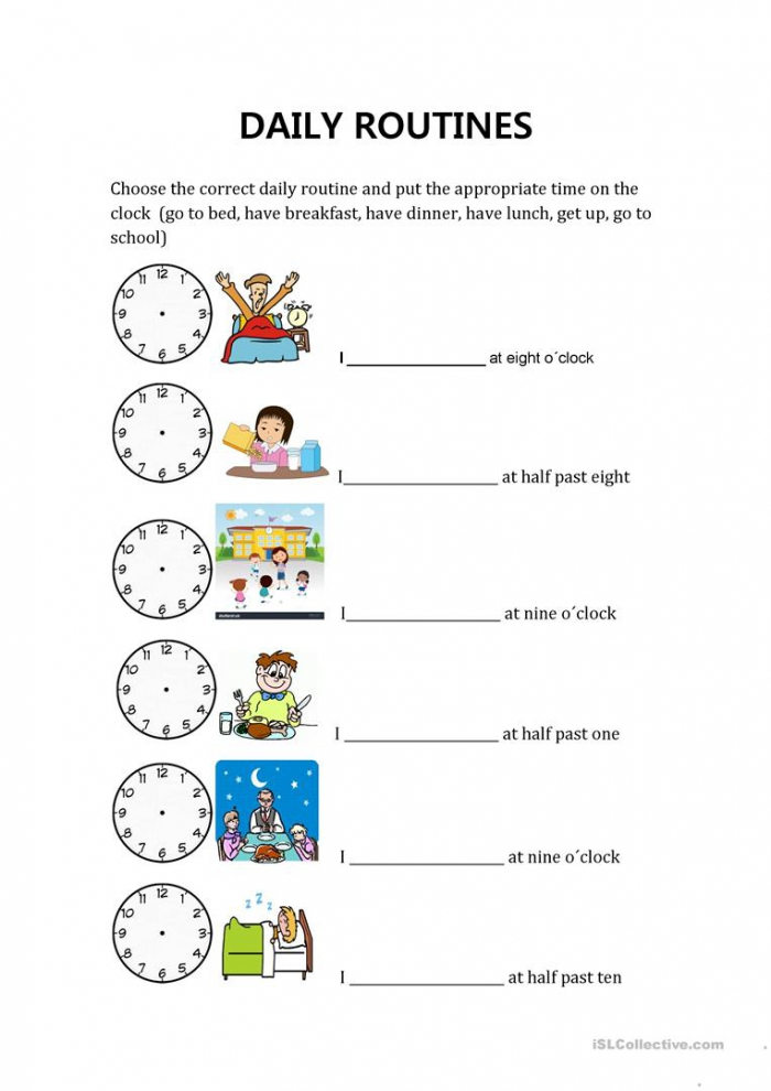 Daily Routines And Hours