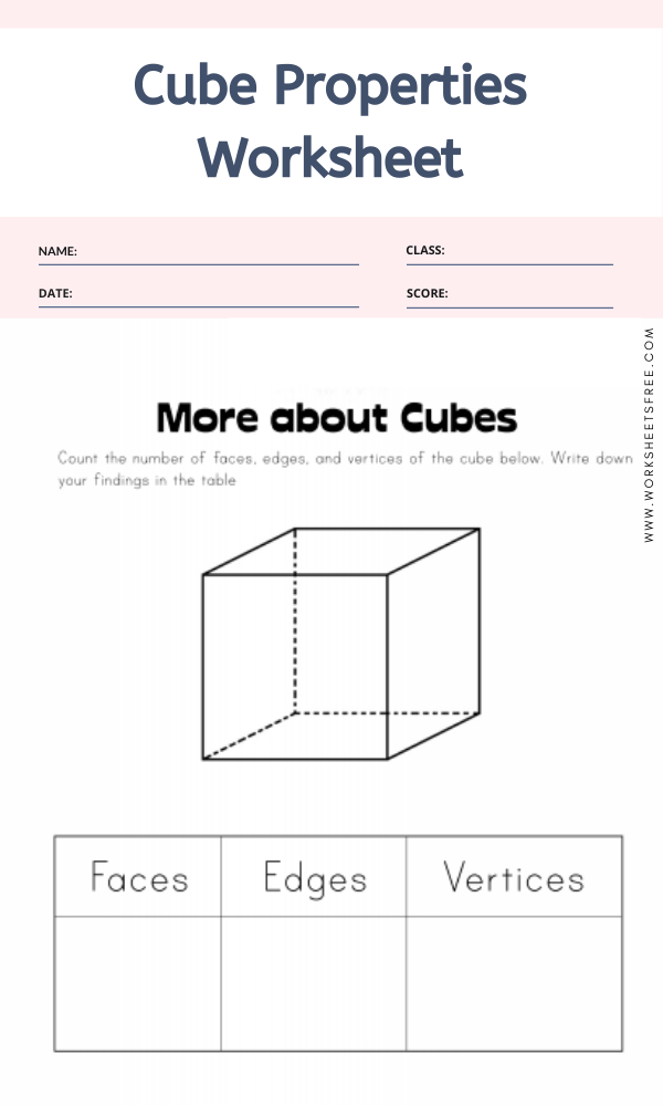 Dimensional Shapes Worksheets For August
