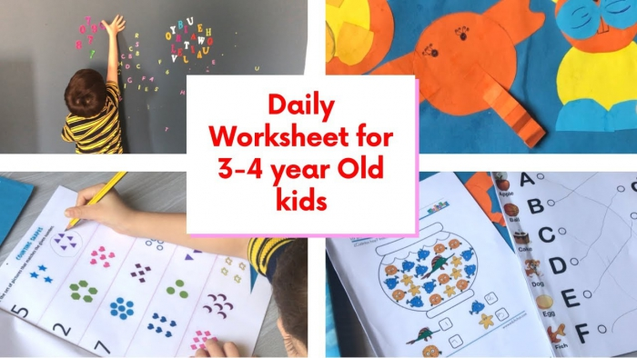 Diy Daily Practice Worksheets For Year Old Kids Toddler