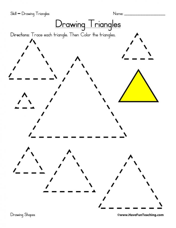 Drawing Triangles Worksheet Have Fun Teaching
