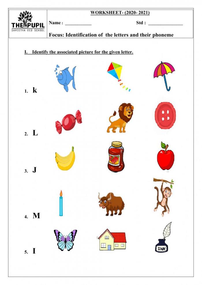 English Worksheet Worksheet For Ukg