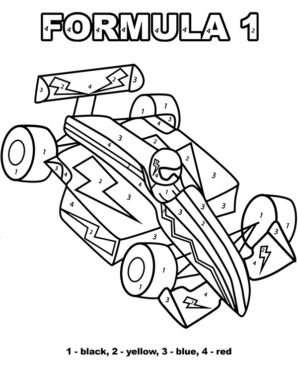 Formula Picture Color By Number