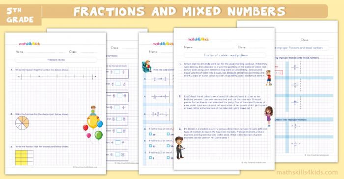 Fractions Worksheets For Grade Pdf