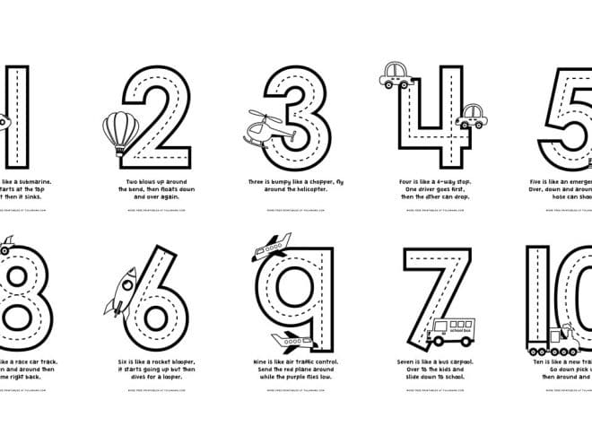 Free Cute Number Coloring Pages For Fun Learning