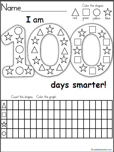 Free Days Shape Graph Worksheet